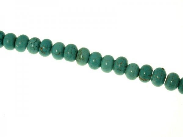 Magnesite turquoise dyed 10x6mm rondelle