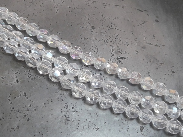 Crystal bead 8mm AB Clear (41 pcs)