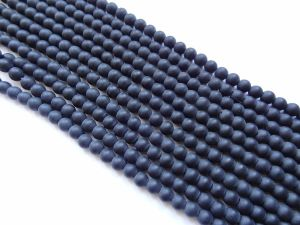 Glass bead frosted black (4mm)