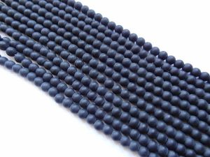 Glass bead 8mm frosted black
