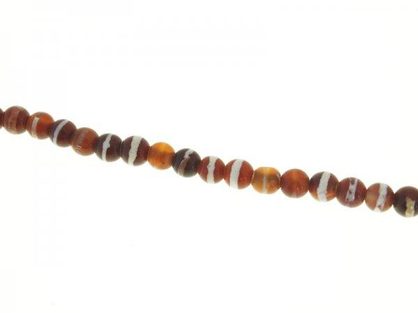 Dzi-agate bead strand 8mm stripy
