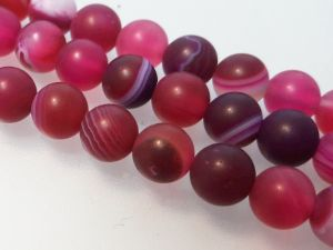Agate matte anilin 6mm (63pcs)