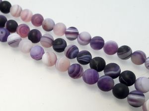 Agate matte dark lilac 6mm (63pcs)