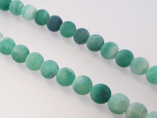 Agate matte green 6mm ( 62pcs)