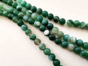Agate matte green 8mm (48 pcs)