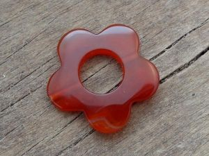 Agate flower dark orange