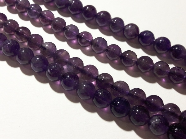 Amethyst dark 6mm (62pcs)