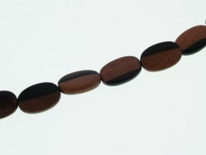 Camagong oval flat wood bead