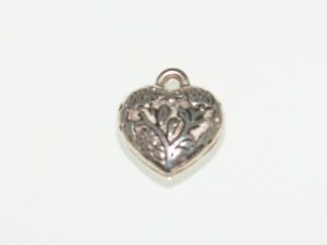 Copper coated pendant heart CCB2754