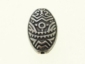 Copper coated bead flat oval Pattern CCB3479
