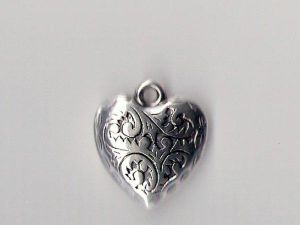 Copper coated pendant heart CCB5283