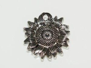 Copper coated pendant sunflower CCB5791