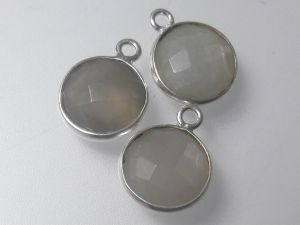 Agate pendant sterling silver edge 11x14mm (1pc)