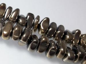 Hematite nugget 3-5x 10-12mm light brass (88pcs)