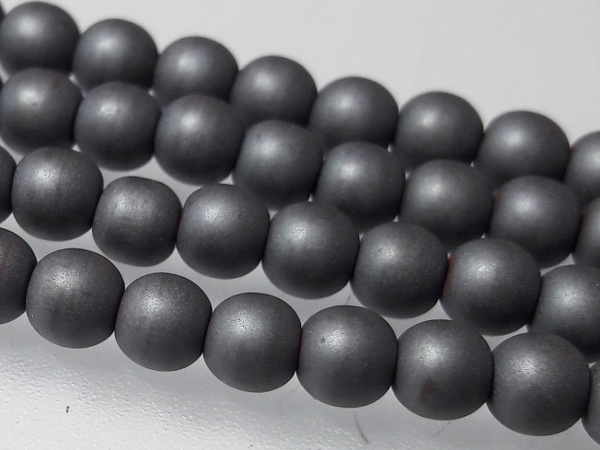 Hematiitti 4mm matte grey (102 pcs)