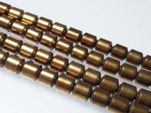 Hematite barrel 6mm bronze (66 pcs)