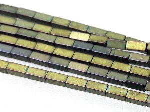 Hematite 1,4x3,2mm tube matte green (131pcs)