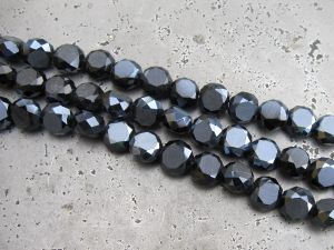 Crystal coin hematite AB (8mm)