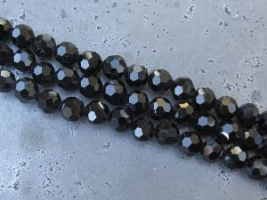 Crystal bead 6mm black KRP0019