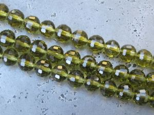 Crystal bead 6mm olive KRP0015