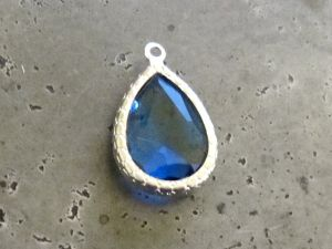 Framed crystal drop blue