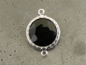Framed crystal round black
