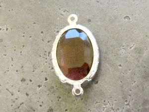 Framed crystal oval plum