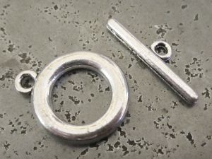 Toggle clasp smooth thick (4pcs)