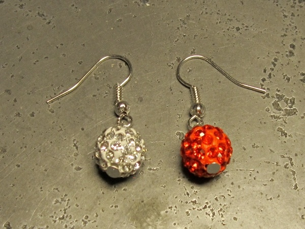 DIY kit diamante earrings