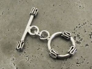 925 silver toggle clasp wave