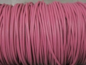 Leather cord 2mm round aniline