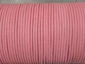 Leather cord 2mm round pink