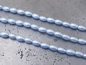 Glass pearl small grain light blue