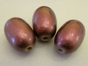 Wood bead grain plum (24x36)