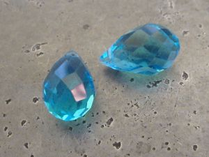 Crystal briolette turquoise