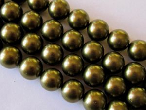 Shell based pearl 12mm olive