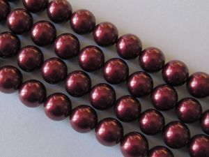 Shell based pearl 10mm burgundy