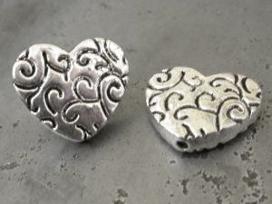Spacer bead Heart JLF0023