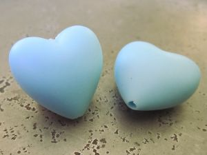Silicone heart light blue