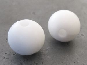 Silicone bead 10mm white