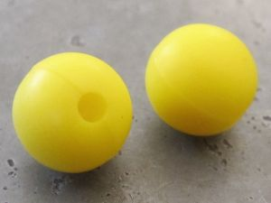 Silicone bead 12mm yellow