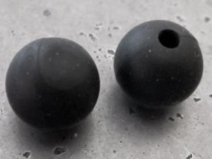 Silicone bead 12mm black