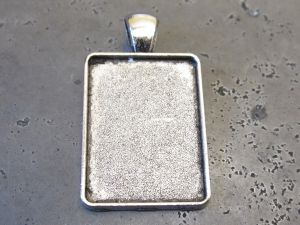 Pendant base rectangle (2pcs)