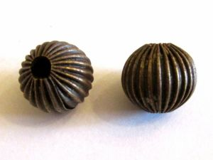 Metal bead 12mm antique brass