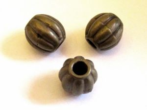 Copper coated bead ball with grooves M