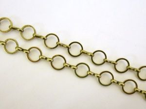 Loop chain antique brass plated roundJCH0056