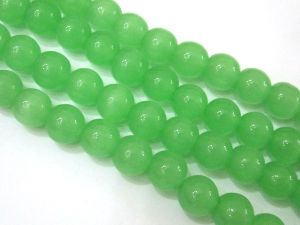 Glass bead 10mm Cat´s eye light green
