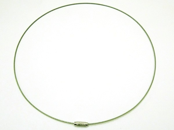 Necklace wire greenish