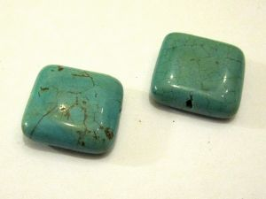 Magnesite turquoise dyed square