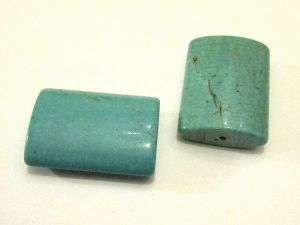 Magnesite turquoise dyed rectangle